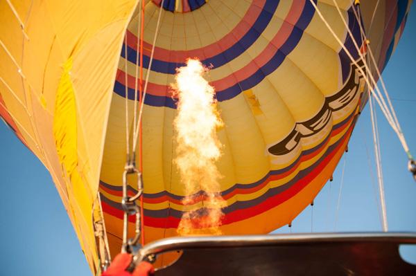 Balloon getting lift