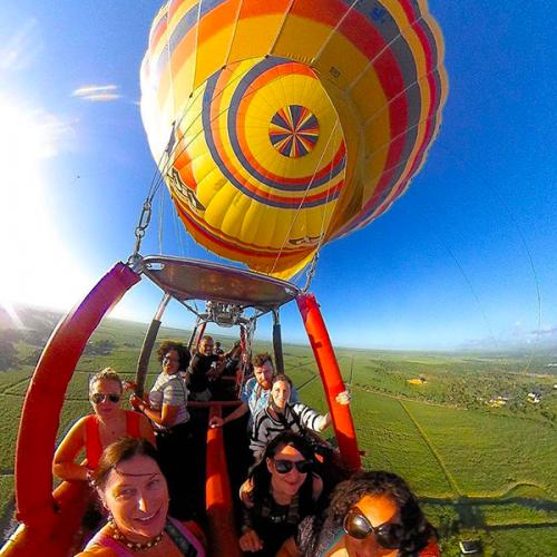 Group Photo Mid Flight